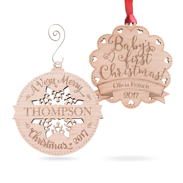 Engraved Gift Ornaments for all year round
