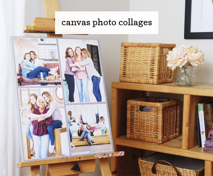 Custom Canvas Photo Collage Gift Idea