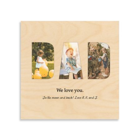 12x12 Dad Collage - We Love You - Expressions Wood Print
