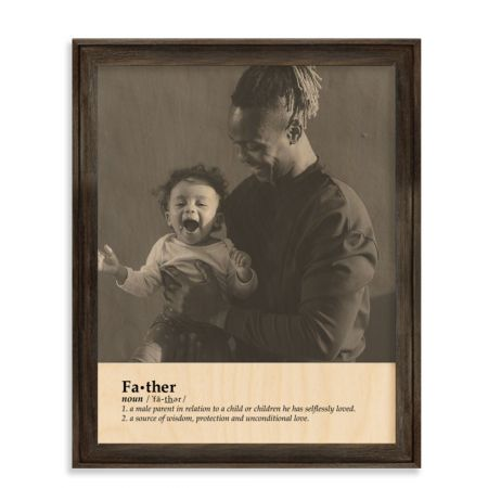11x14 Definition - Father - Expressions Wood Print