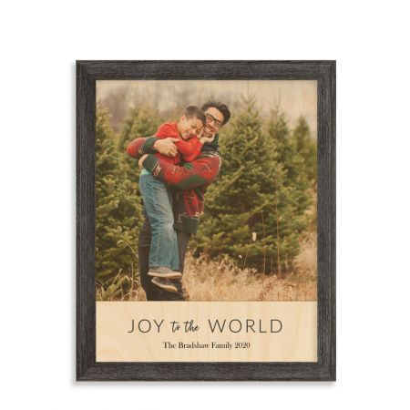 11x14 Joy To The World - Expressions Wood Print