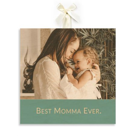 12x12 Best Momma Ever - Expressions Wood Print