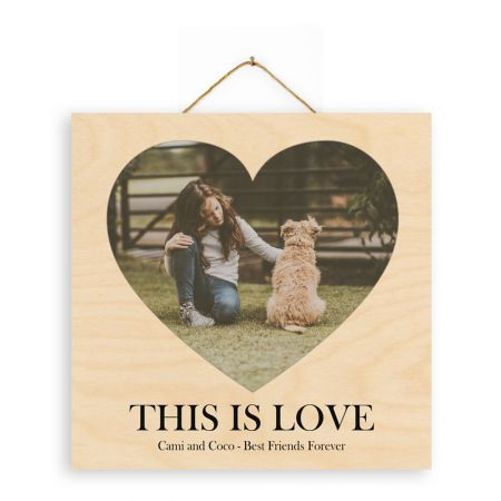 12x12 This is Love - Heart - Expressions Wood Print