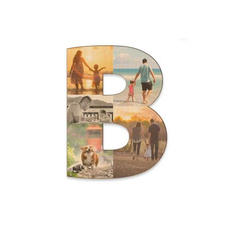 12-Inch Wood Photo Letter - B
