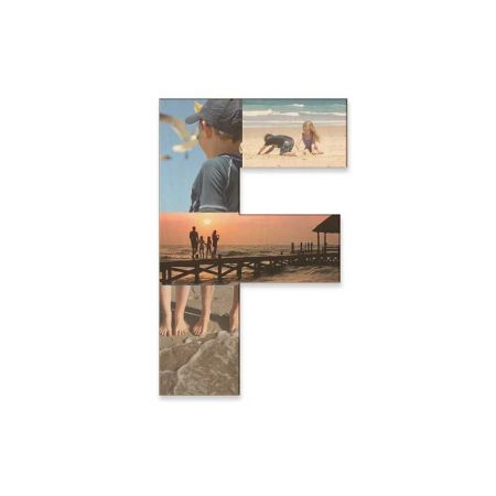 12-Inch Wood Photo Letter - F