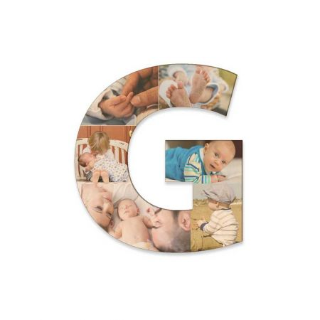 12-Inch Wood Photo Letter - G