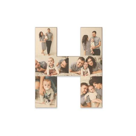 12-Inch Wood Photo Letter - H