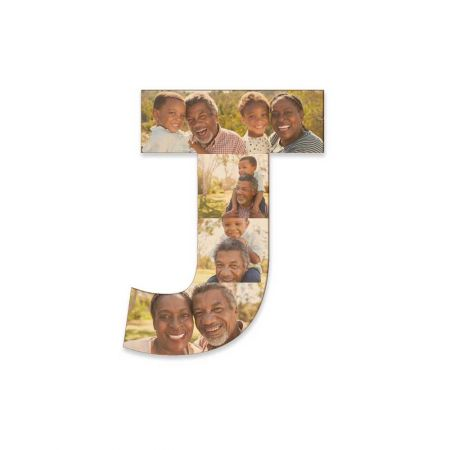 12-Inch Wood Photo Letter - J