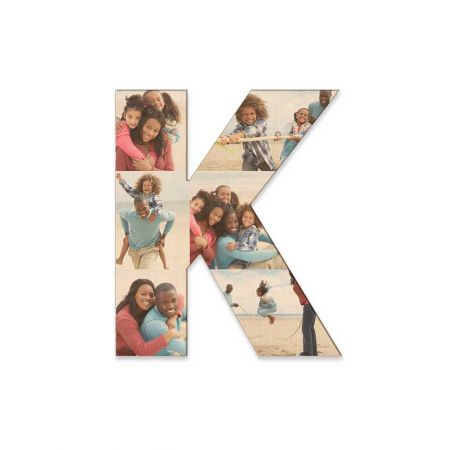 12-Inch Wood Photo Letter - K