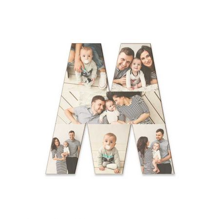 12-Inch Wood Photo Letter - M