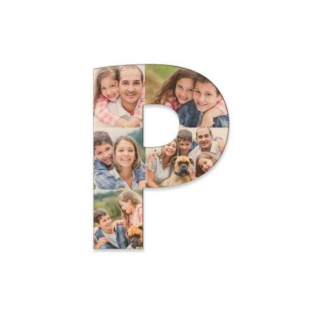 12-Inch Wood Photo Letter - P