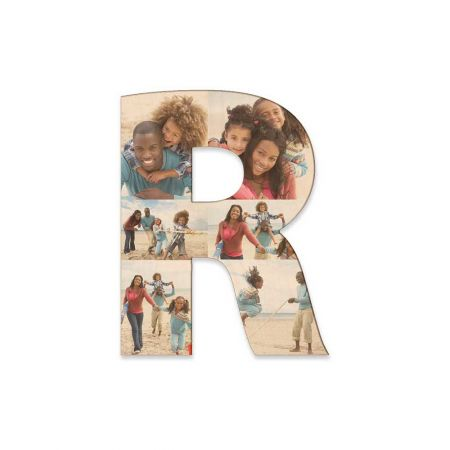 12-Inch Wood Photo Letter - R