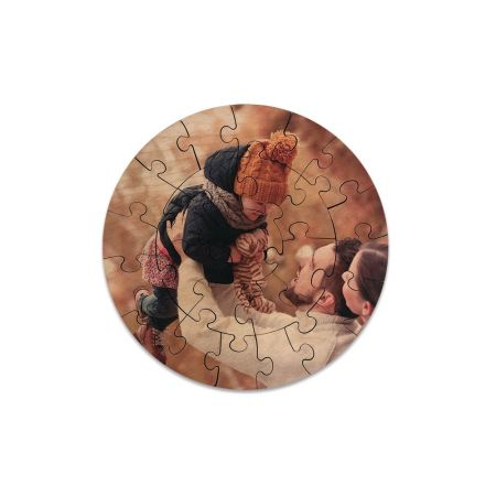 8-Inch Round Wood Puzzle