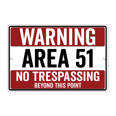 8x12 No Trespassing Road Sign