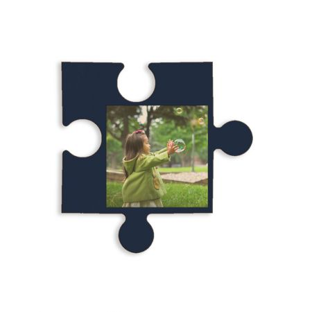 12-Inch Wood Photo Puzzle Piece - C