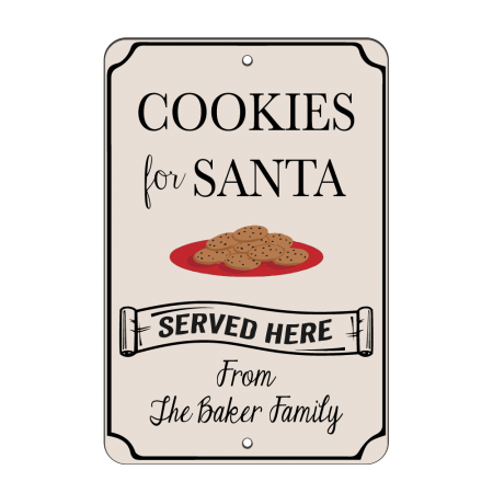 8x12 Santa's Cookies Road Sign