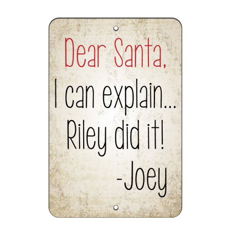 8x12 Dear Santa Road Sign