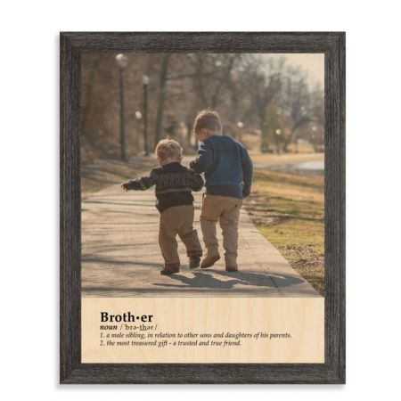 11x14 Definition - Brother - Expressions Wood Print