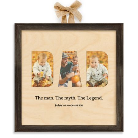 12x12 Dad Collage - The Man - Expressions Wood Print