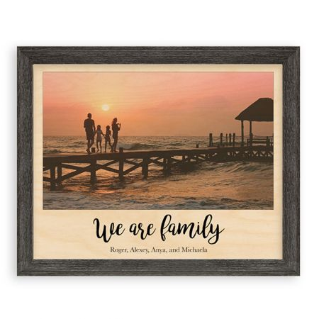 11x14 We Are Family - Expressions Wood Print