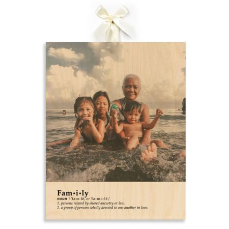 11x14 Definition - Family - Expressions Wood Print