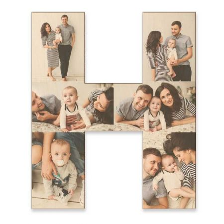 20-Inch Wood Photo Letter - H