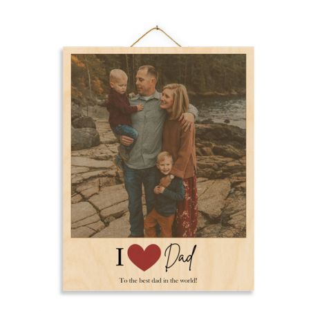 11x14 I Heart Dad - Expressions Wood Print