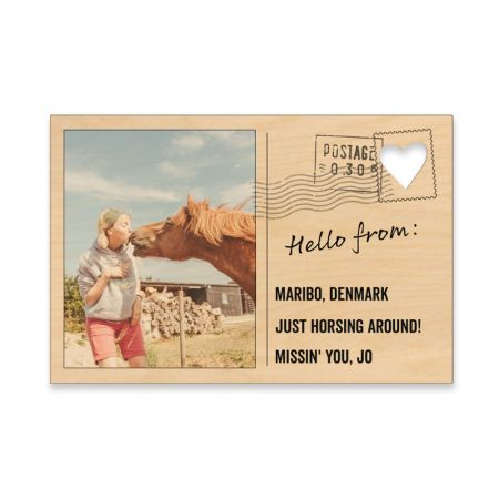 4x6 Wood Postcard - Hello From
