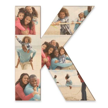 20-Inch Wood Photo Letter - K