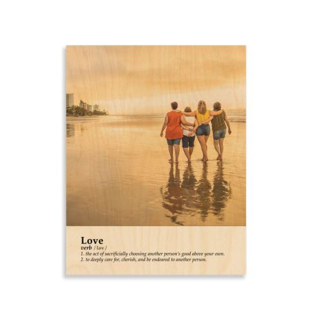 11x14 Definition - Love - Expressions Wood Print