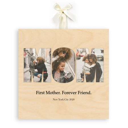 12x12 Mom Collage - Forever Friend - Expressions Wood Print