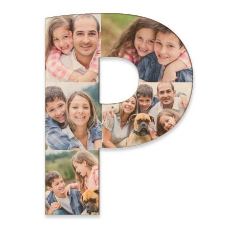 20-Inch Wood Photo Letter - P