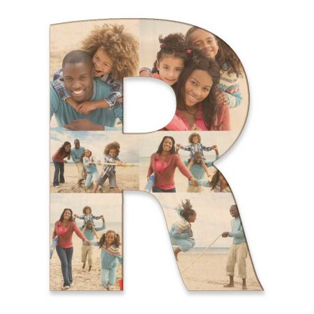 20-Inch Wood Photo Letter - R