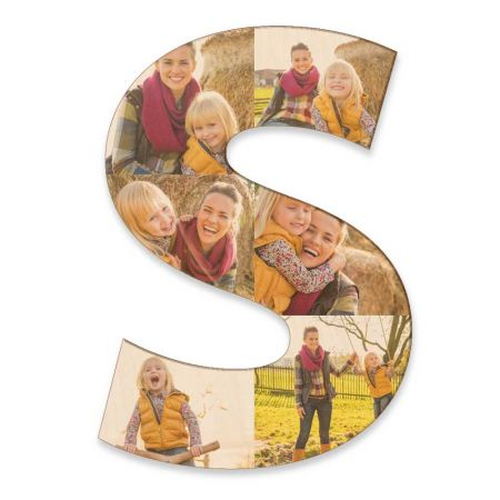 20-Inch Wood Photo Letter - S