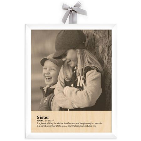 11x14 Definition - Sister - Expressions Wood Print