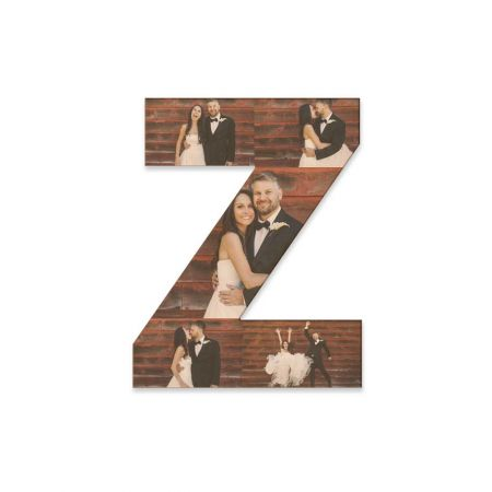 12-Inch Wood Photo Letter - Z