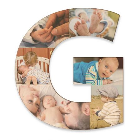 20-Inch Wood Photo Letter - G