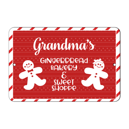 8x12 Gingerbread Sweet Shop Road Sign