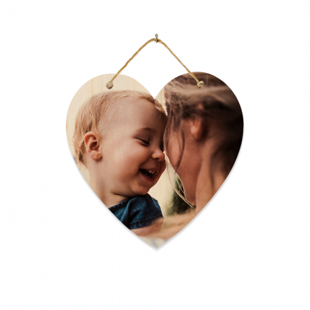 8-Inch Heart Hanging Wood Print