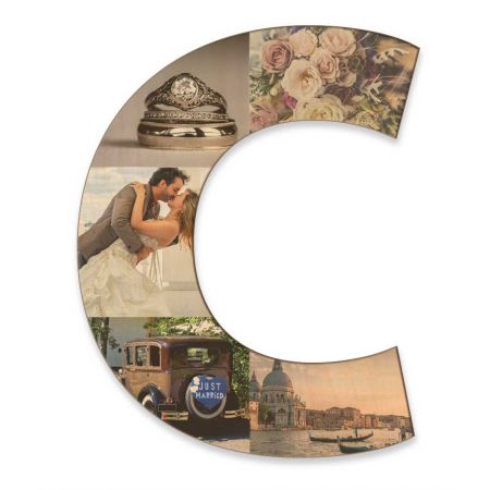 20-Inch Wood Photo Letter - C