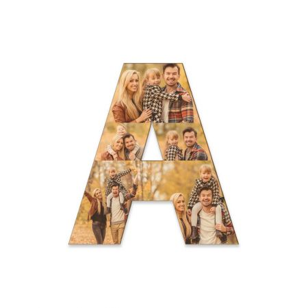 12-Inch Wood Photo Letter - A