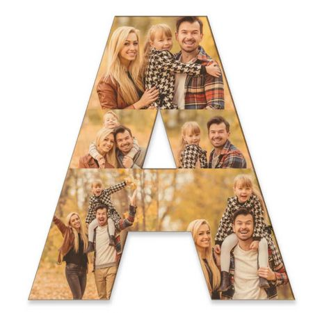 20-Inch Wood Photo Letter - A