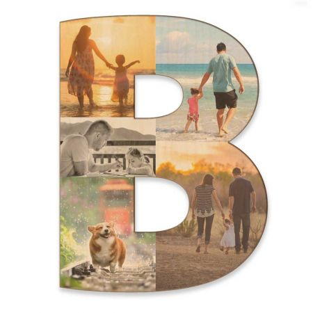 20-Inch Wood Photo Letter - B