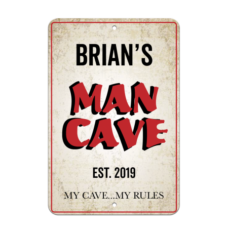 8x12 Man Cave Road Sign