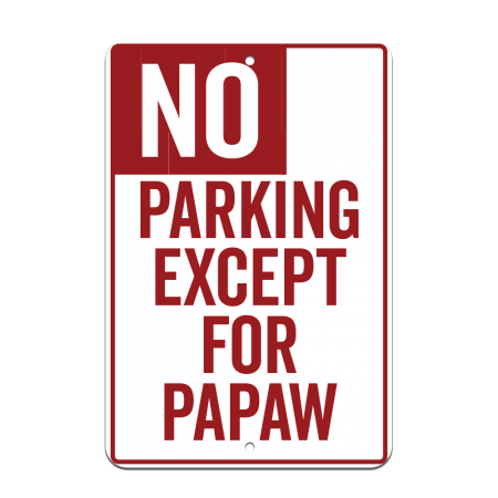 8x12 No Parking Road Sign