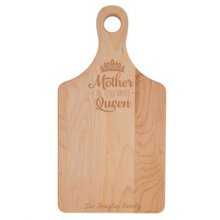 7x14 Paddle Shaped Bamboo Cutting Board