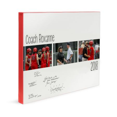 16x20 Canvas Wrapped Signature Guestbook - Coach