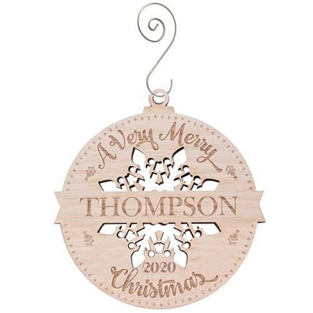 A Very Merry Christmas Wood Ornament