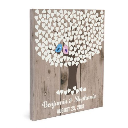 16x20 Canvas Wrapped Signature Guestbook - Lovebirds