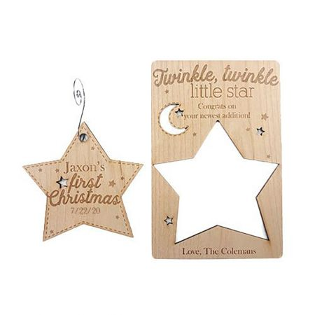 First Christmas Wood Pop-out Ornament Card